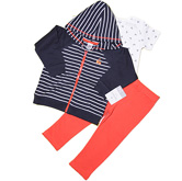 Толстовка+боди+брюки Carter's (оранж. полоска)